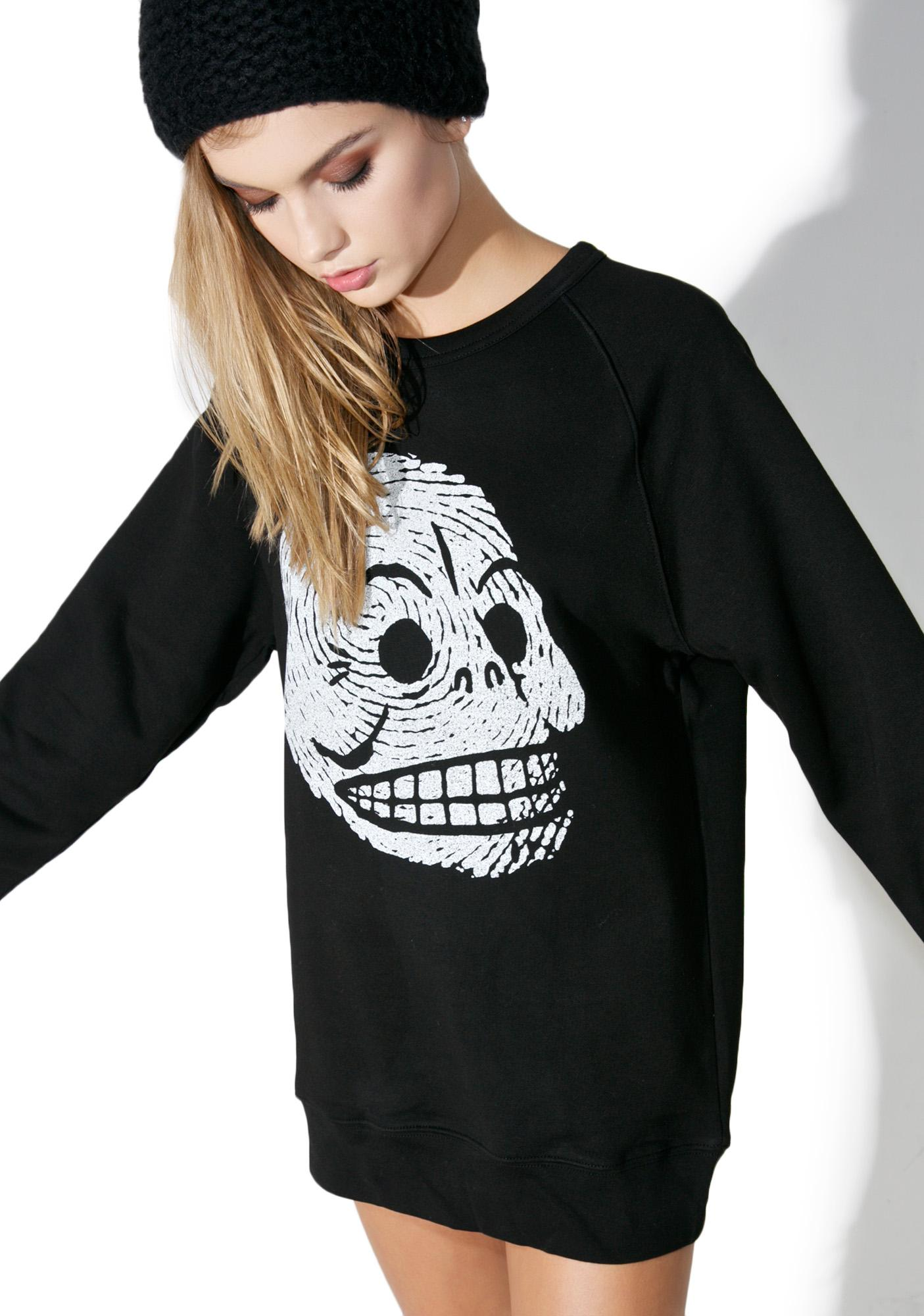 Cheap Monday Rules Skull Sweatshirt