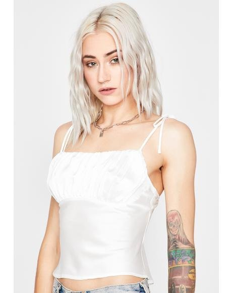 No BS Allowed Satin Top