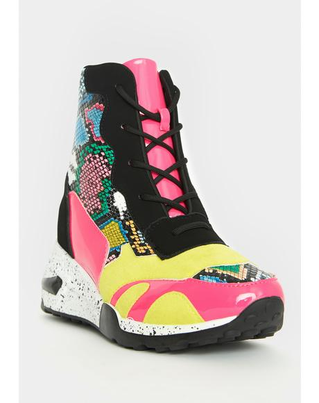Volt Feisty Galore Platform Sneakers
