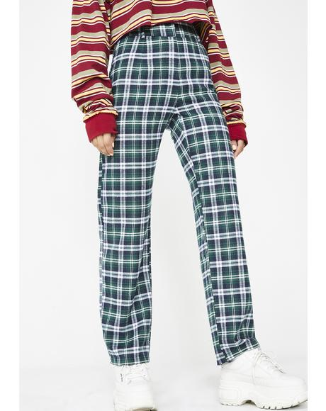 Post N' Delete Plaid Trousers
