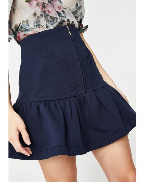 Navy Heather Mini Skirt