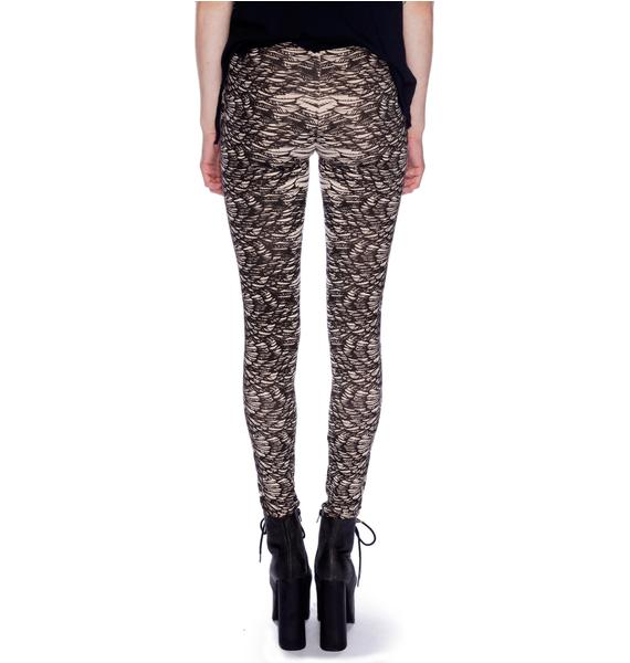 Lip Service Skull on the Wing Print Leggings