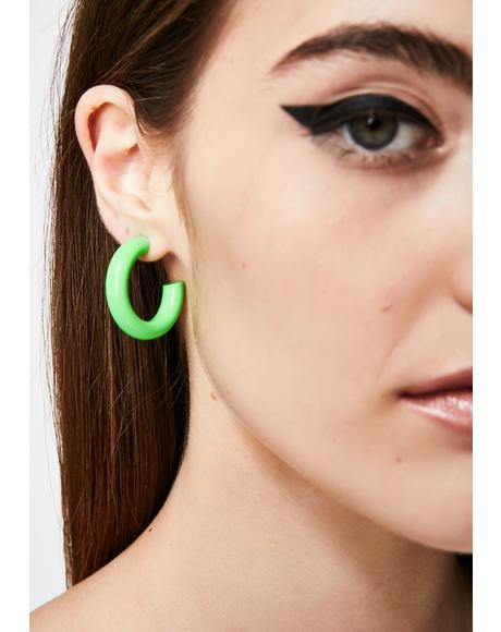 Slime Sicko Scene Hoop Earrings
