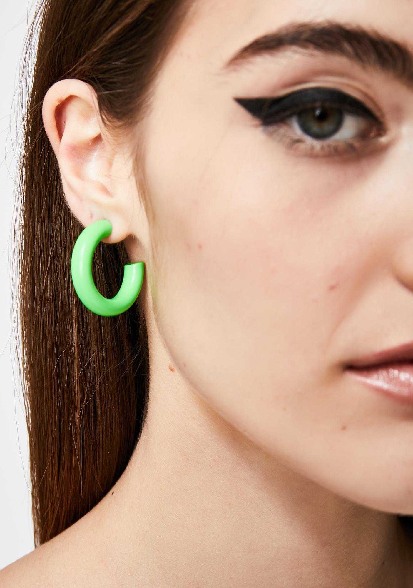 Slime Sicko Scene Hoop Earrings