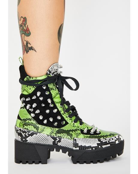 Kush So Feisty Studded Boots