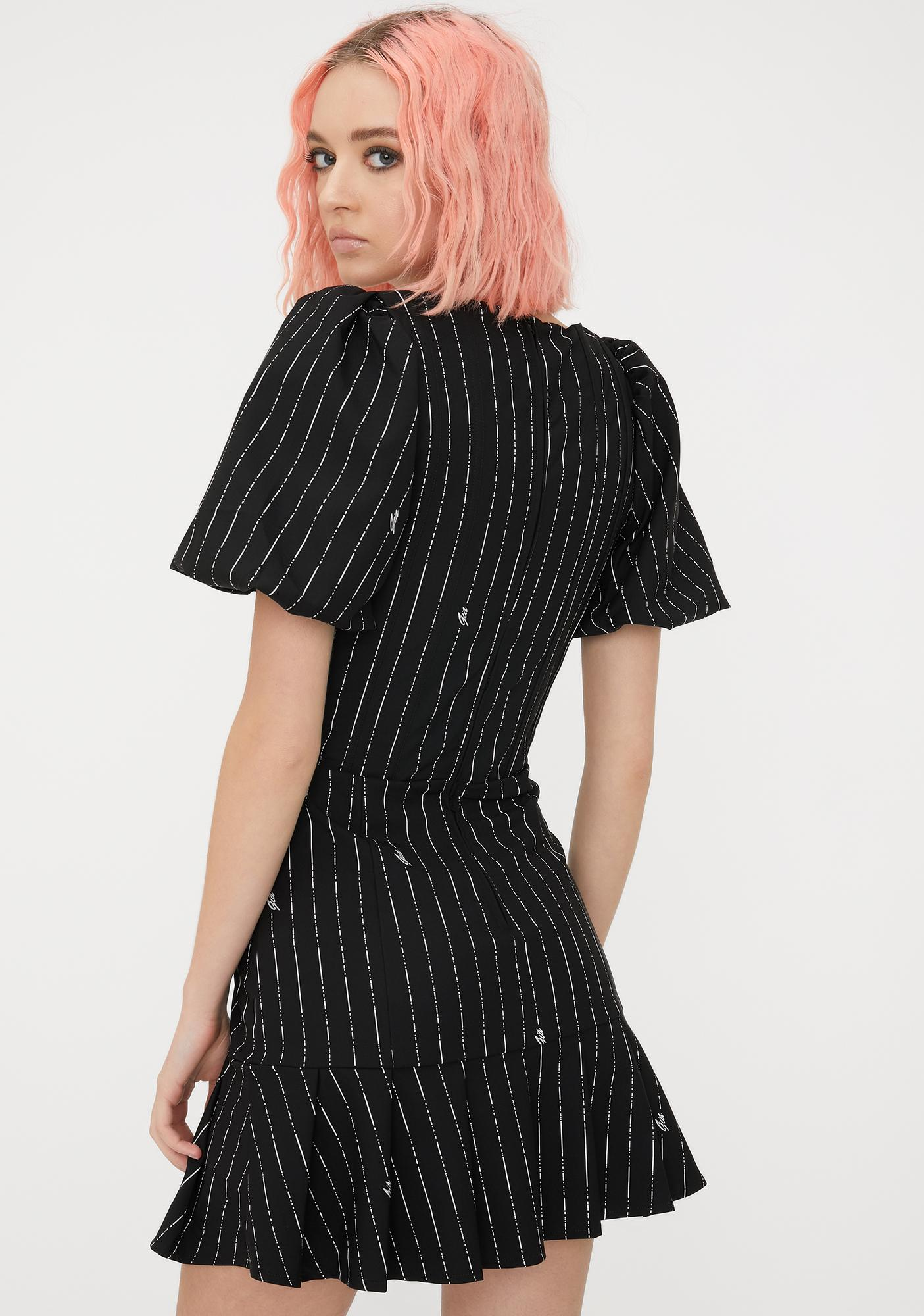 I AM GIA Pinstripe Chelsey Mini Dress