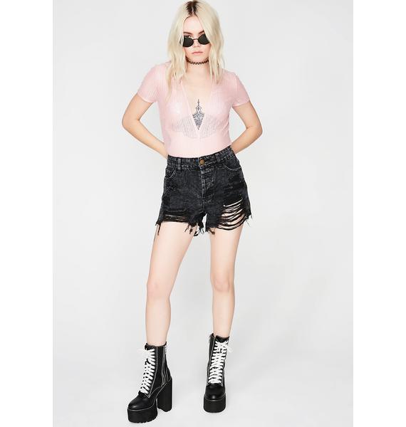 Make Me Blush Sheer Bodysuit