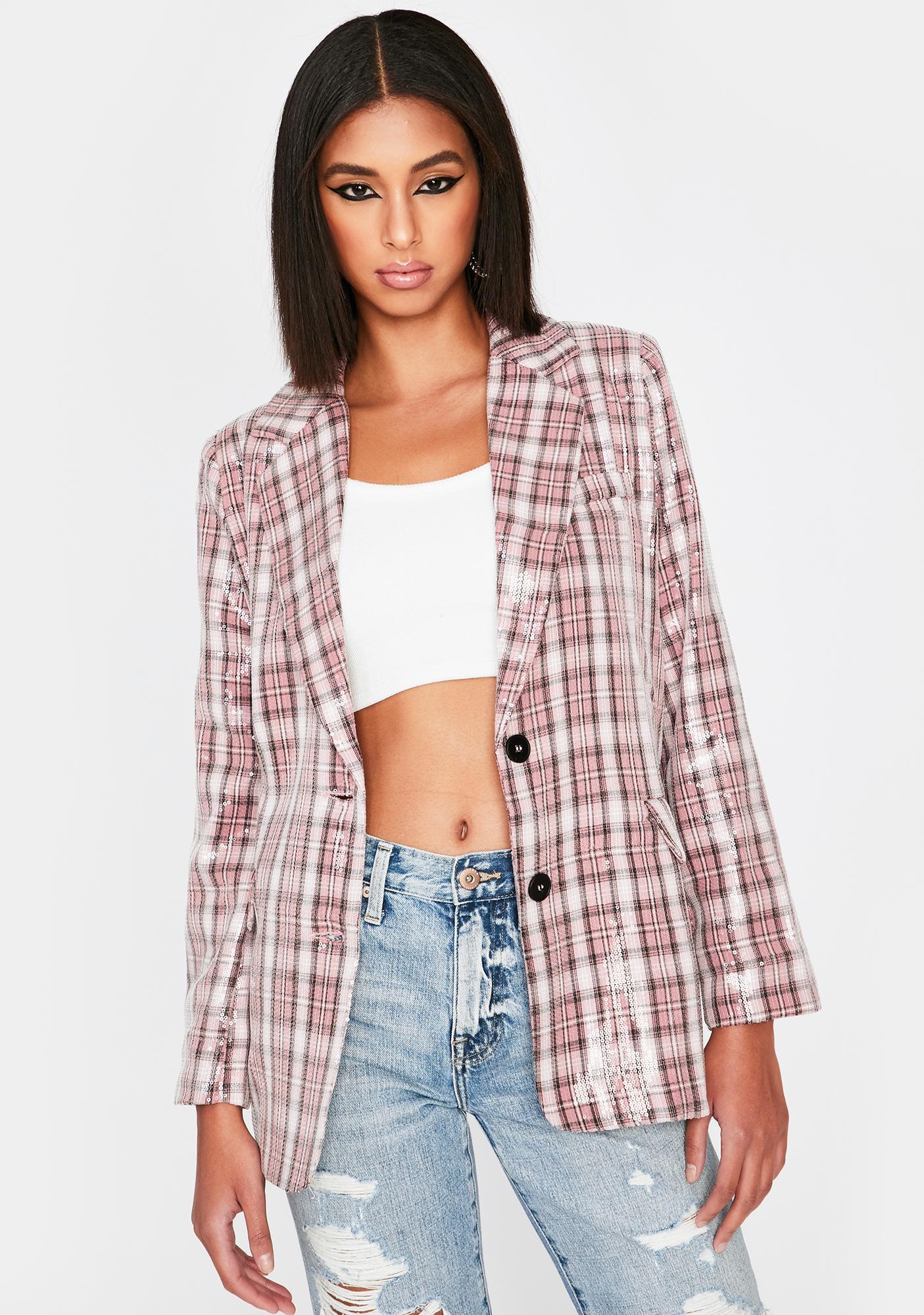 Diva Attitude Check Sequin Blazer