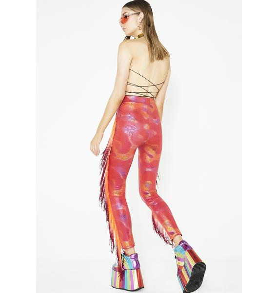 Club Exx Molten Sun Fringe Leggings
