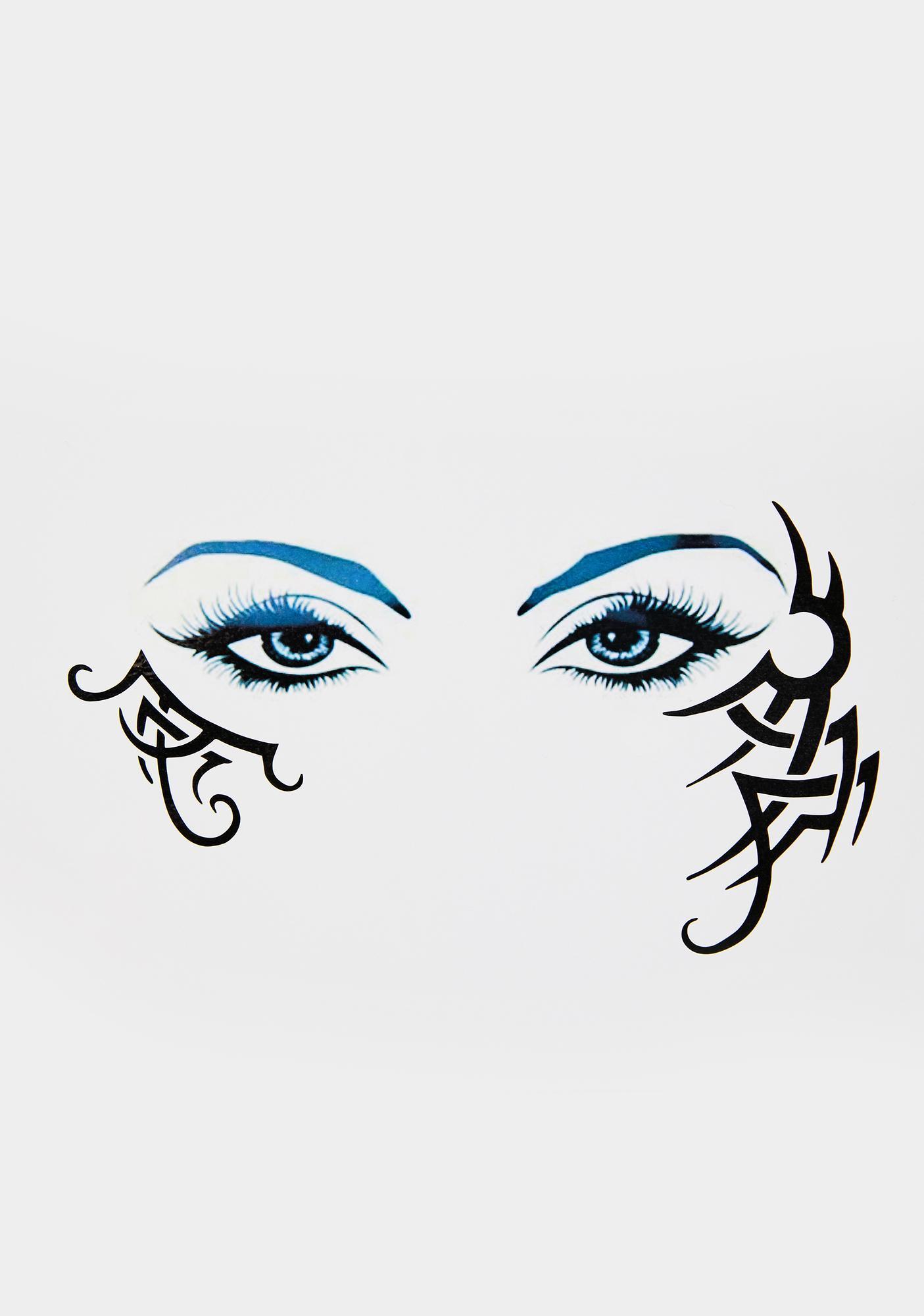 Neva Nude Raging Temper Temporary Eye Tattoo