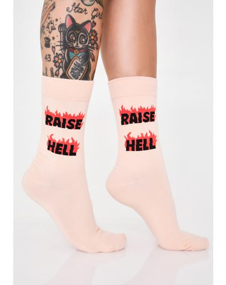 Raise Hell Graphic Socks