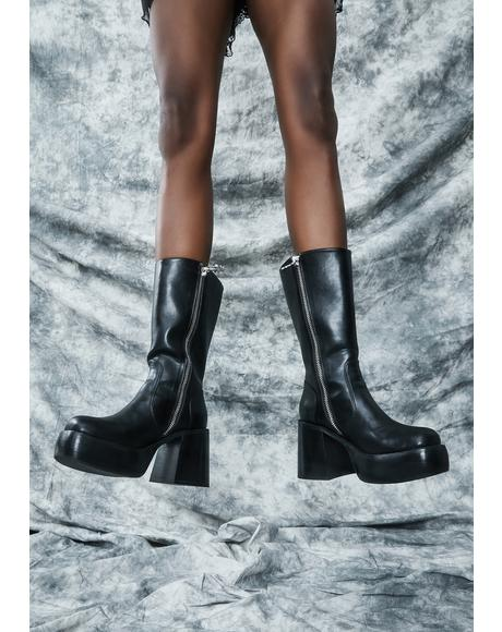 New Moon Mischief Knee High Boots