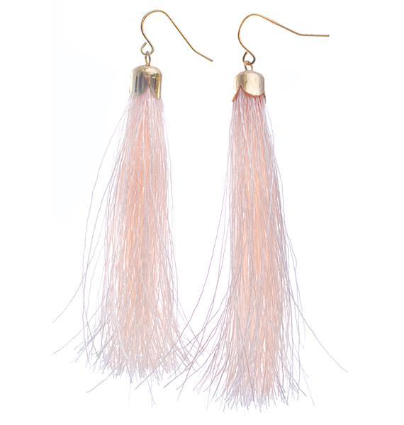 Tickle Me Pink Tassel Earrings