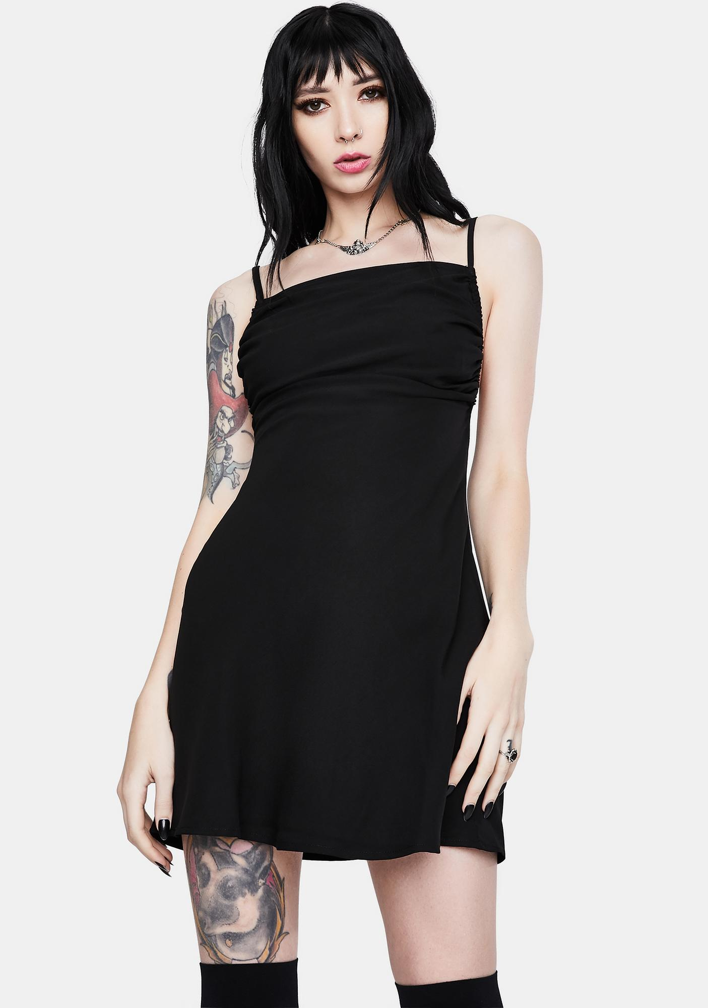 Re Named Allie Solid Slip Dress