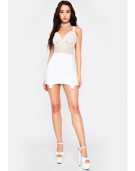 Ivory Forbidden Paradise Lace Bodysuit
