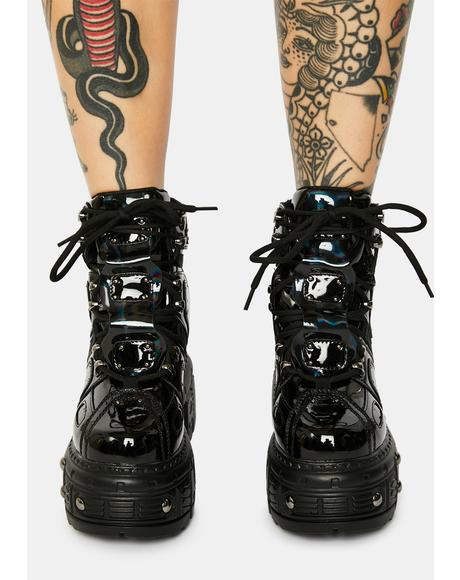 Black Patent Mangosteen Sneakers