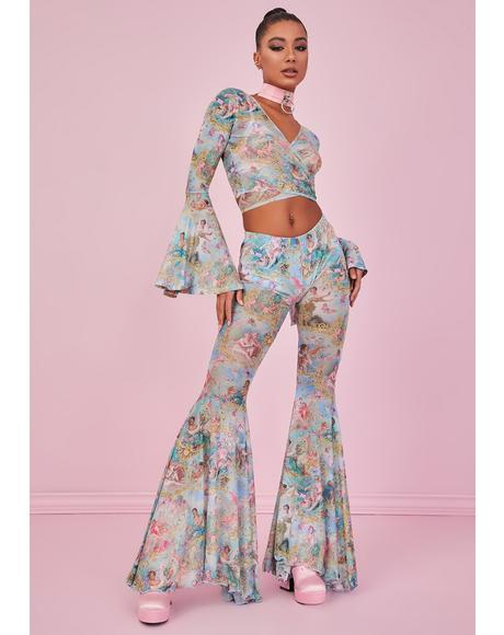Divine Lush Opulence Flare Pants