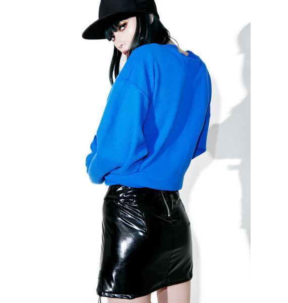 Tripp NYC Patent Rocker Skirt