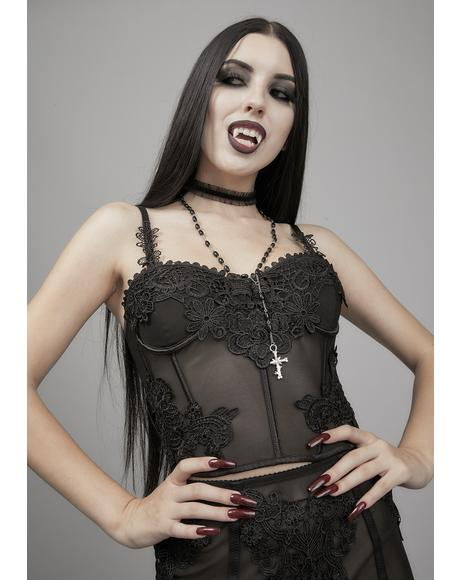 Deadly Serious Lace Bustier