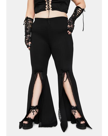 Final Initiation Into Darkness Front Slip Bell Bottoms