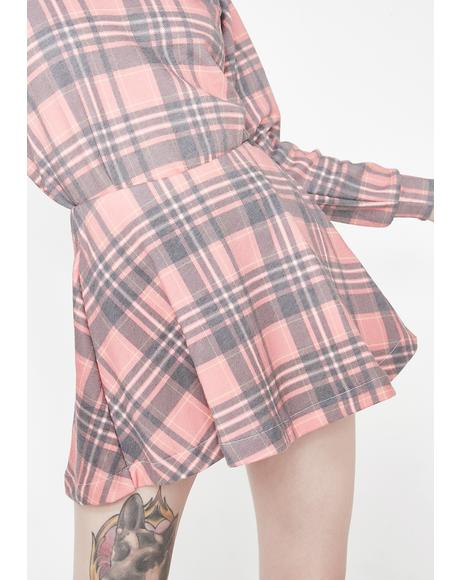 Sweetheart Plaid Villa Skirt