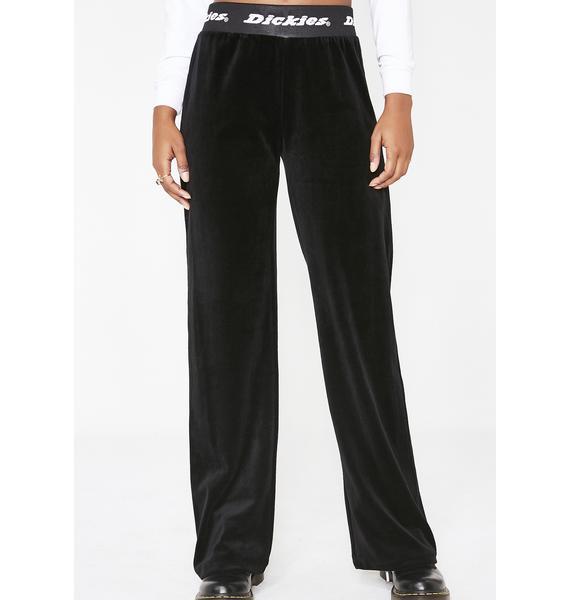 Dickies Girl Logo Band Velour Pants