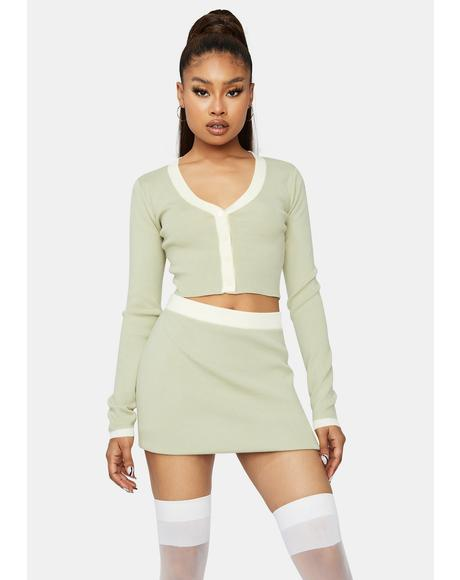 Waiting For You Cropped Skirt Set