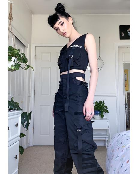 Black Tactical Vest Top