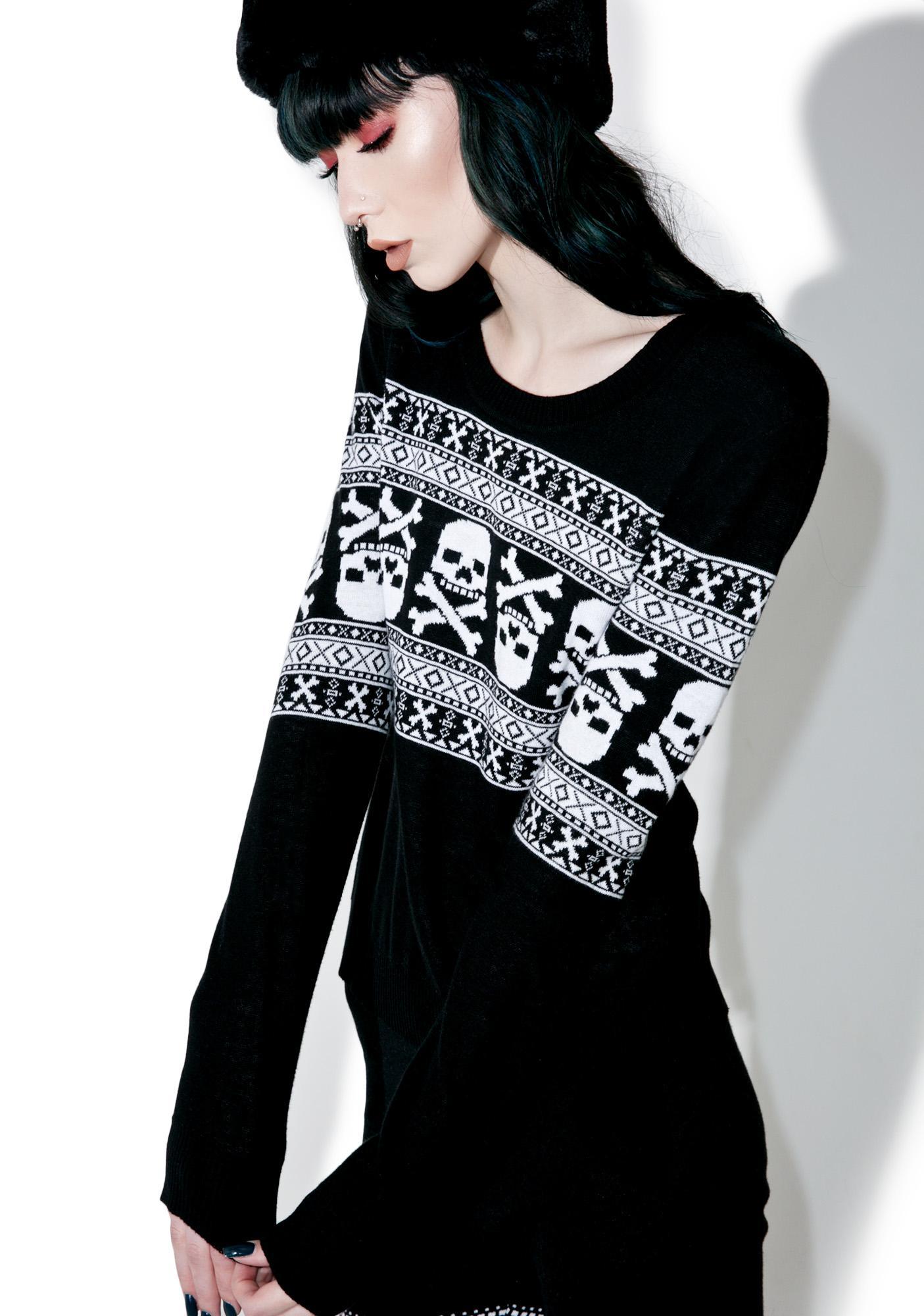 Sourpuss Clothing Skull 'N Bones Pullover