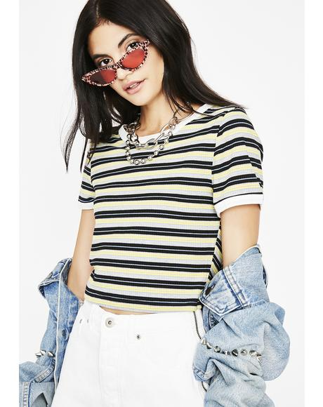Live For Weekends Stripe Top
