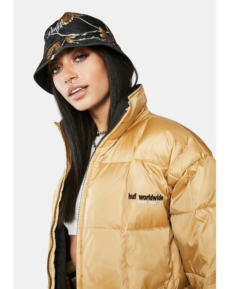Camel Glacier Puffer Jacket