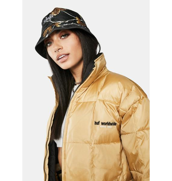HUF Camel Glacier Puffer Jacket