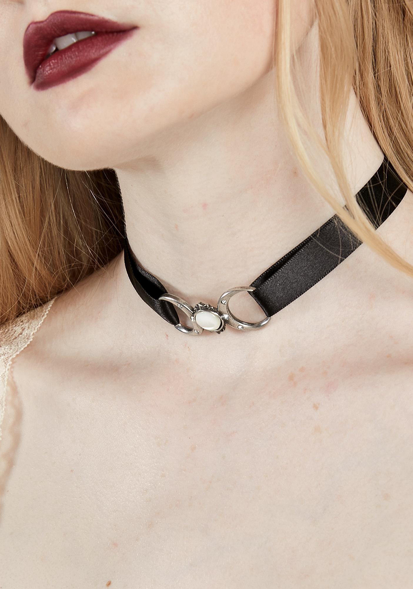 Details about  /Alchemy Gothic Triple Goddess Velvet Choker Gothic,Goth