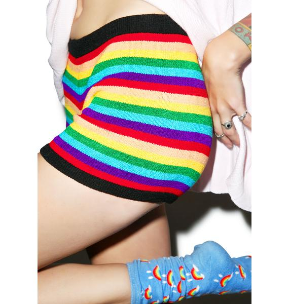 Knitty Kitty Rainbow Pop Boyshorts