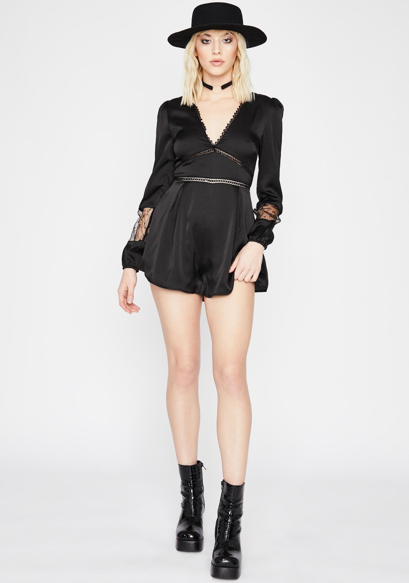 Be My Plaything Satin Romper