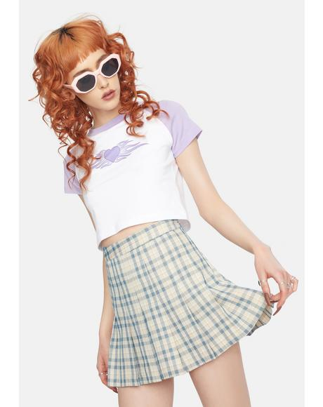 Slate Not So Clueless Plaid Mini Skirt
