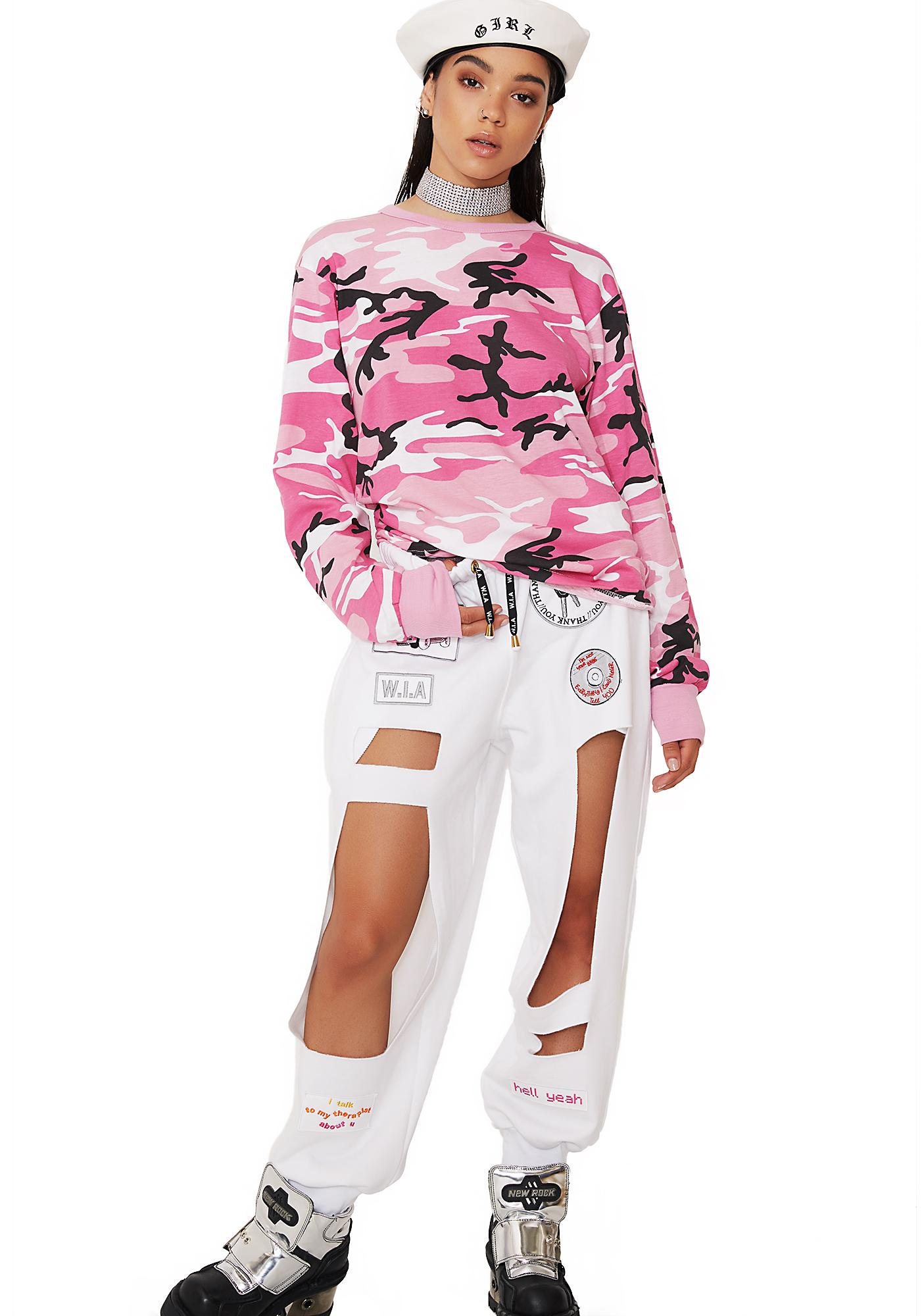 Bubblegum Urban Camo Long Sleeve Tee