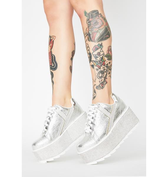 Y.R.U. Lala Qrystal Platform Sneakers
