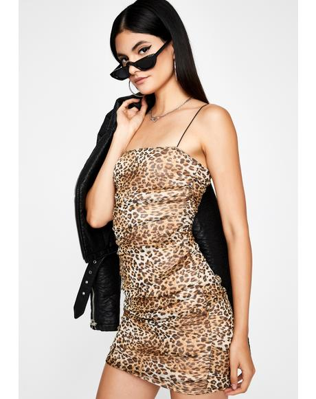 Catty Couture Ruched Dress