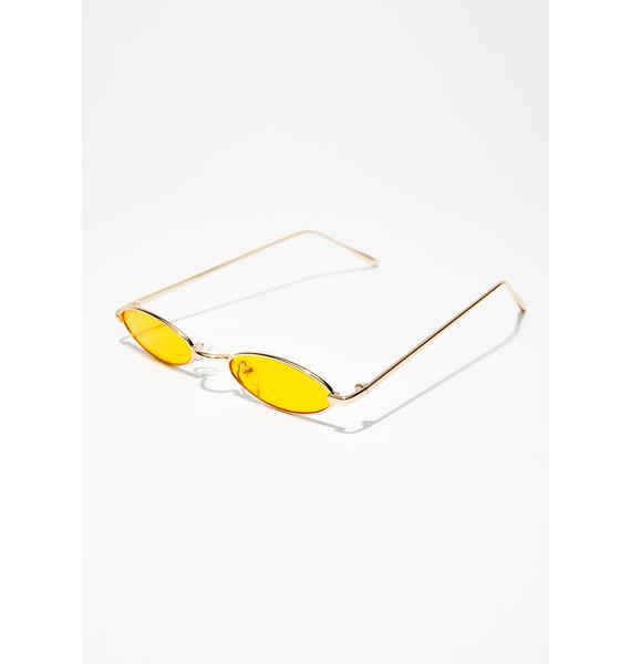 Till The Sun Up Oval Sunglasses