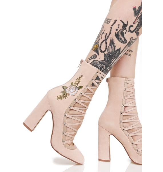 Chinese Laundry Sylvia Lace-Up Heels