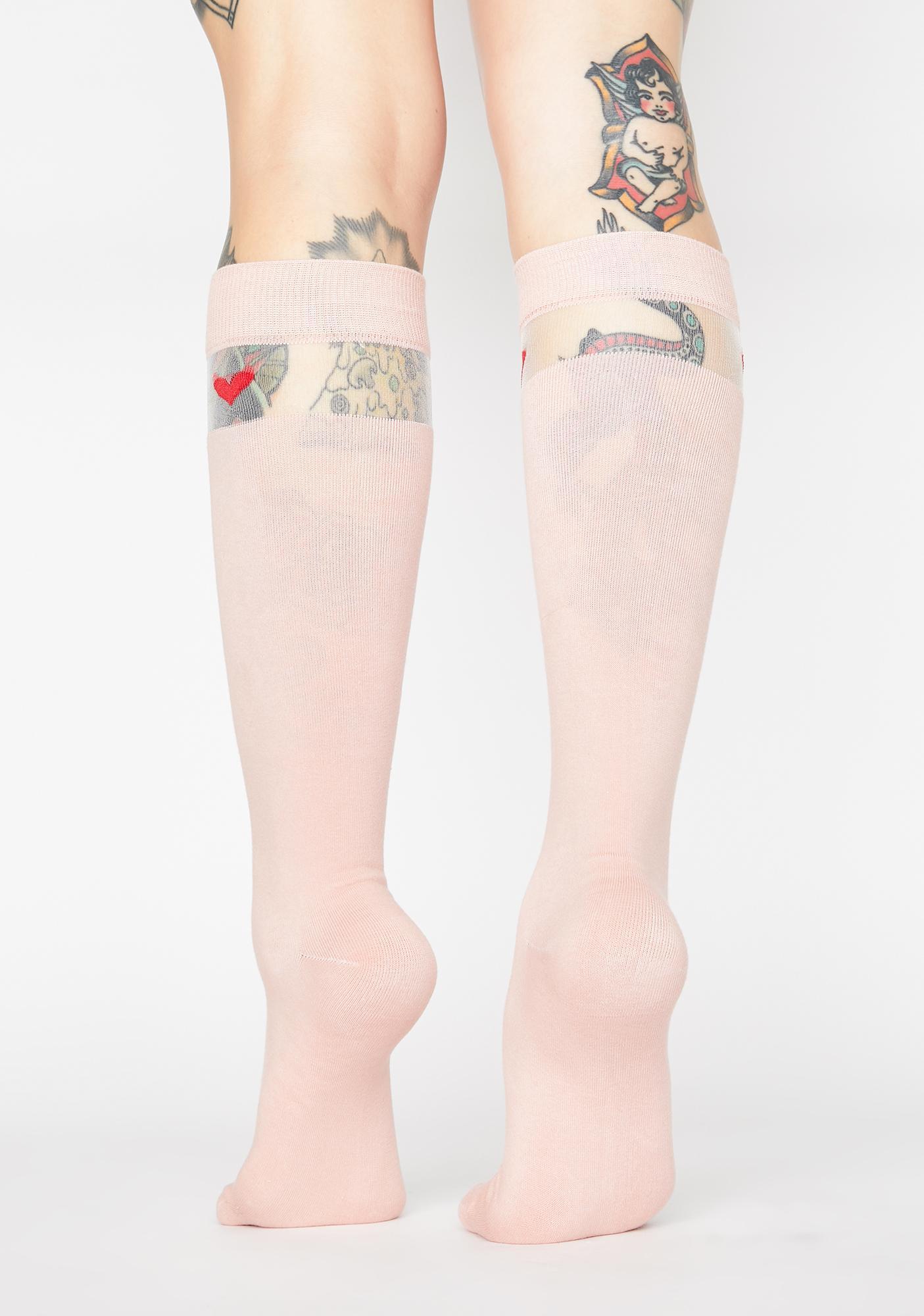 Half Of My Heart Knee High Socks