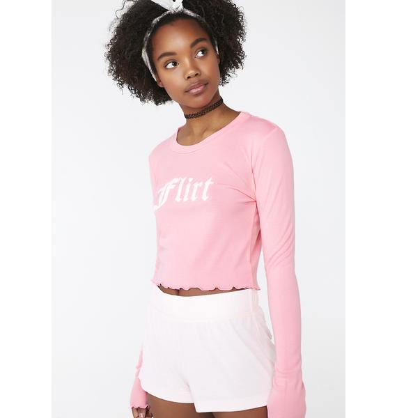 Wildfox Couture Flirt Ren Longsleeve Top