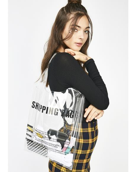 Shopaholic Clear Tote