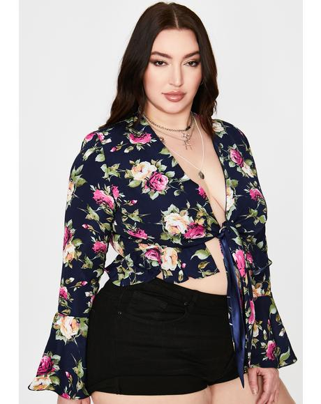 Royal Got Boho Dreams Floral Crop Top