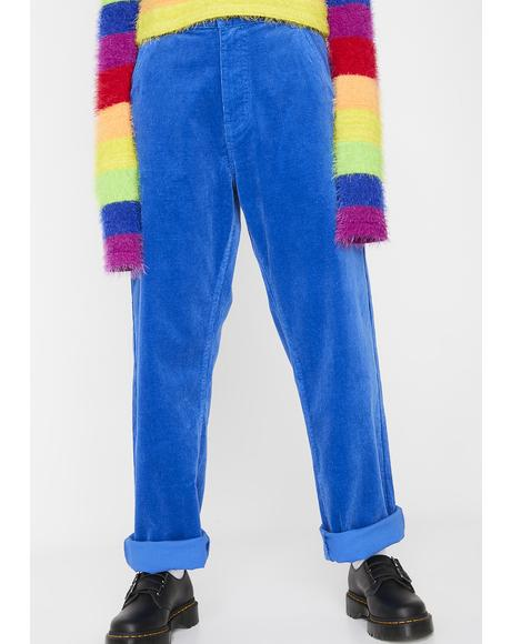 Electric Blue Corduroy Pants