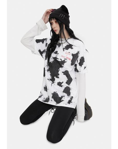 Vice Dairy Cow Print Tee
