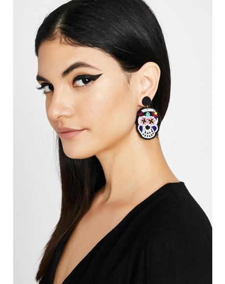 Sweet Death Skull Earrings