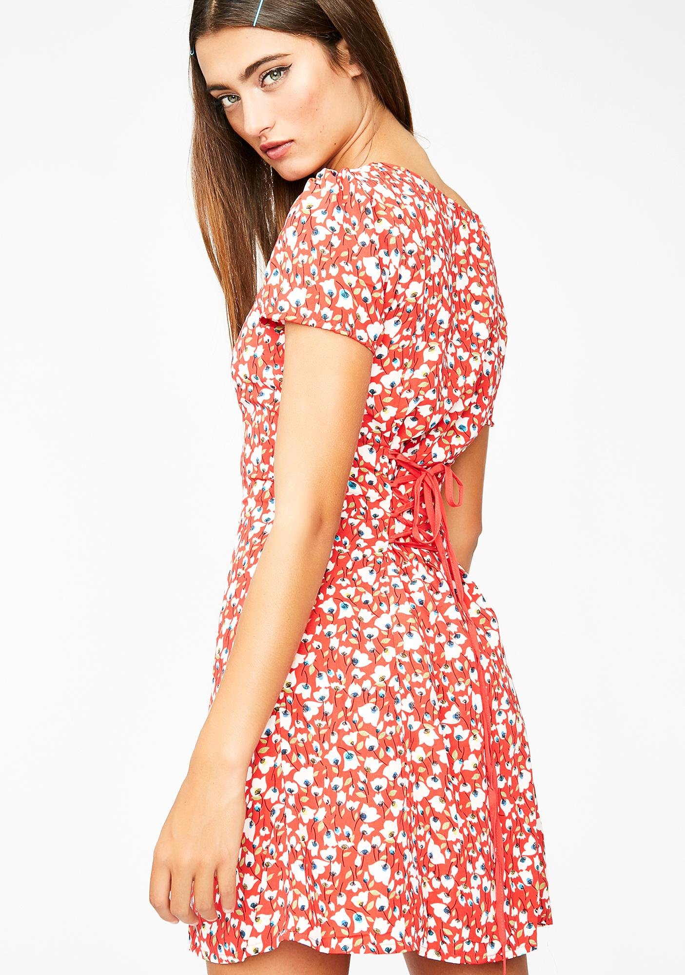 Fall In Luv Floral Dress