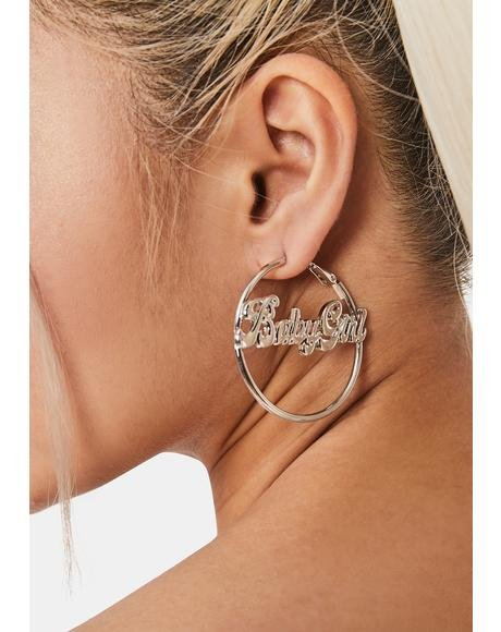 Babygirl Forever Hoop Earrings